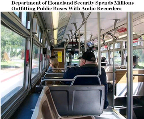 department of homeland security spends millions outfitting public buses with audio recorders