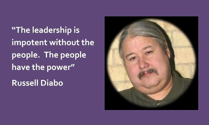 Ruseell Diabo The leadership is impotent without the people