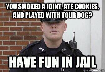 you smoked a joint have fun in jail