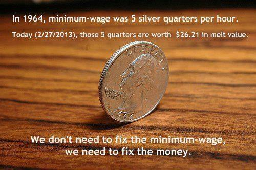 we don't need to fix the minimum wage we need to fix the money