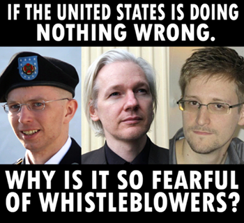 If the united states is doing nothing wrong why is it so fearful of whistleblowers?