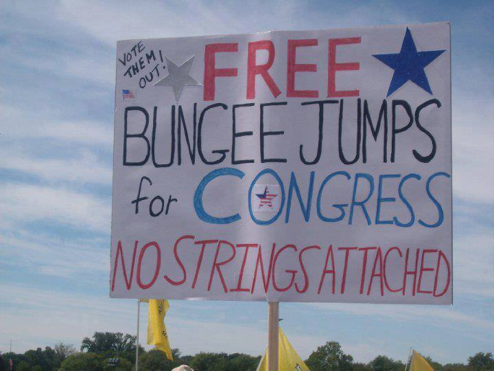 Free bungee jumps for congress no strings attached