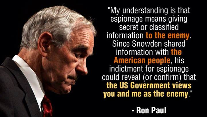 Ron Paul on espionage