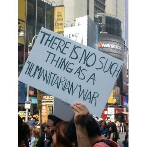 There is no such thing as a humanitarian war