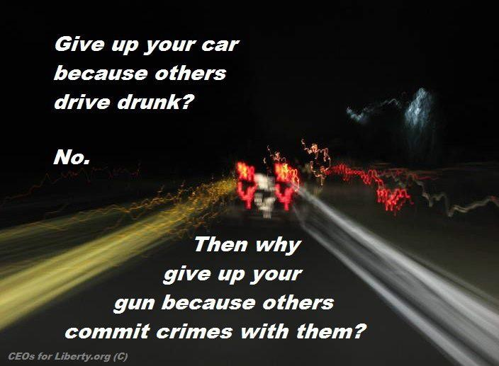 Give up your car because others drive drunk?