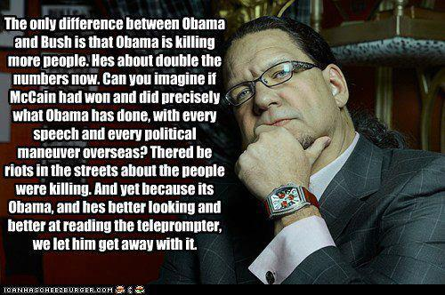 The only difference between Obama and Bush is that Obama is killing more people