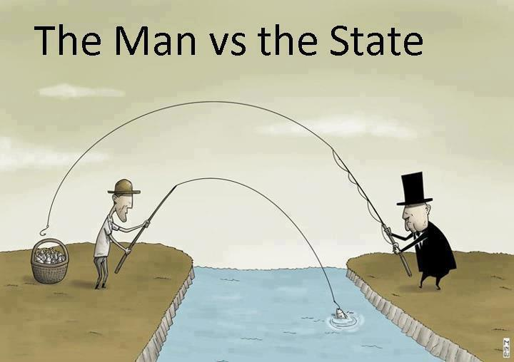the man vs the state