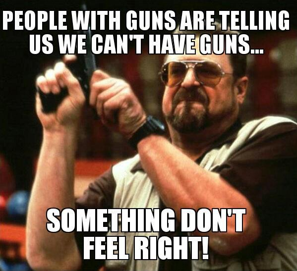 People with guns are telling us we can't have guns