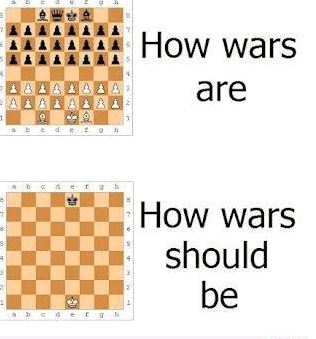 How wars should be