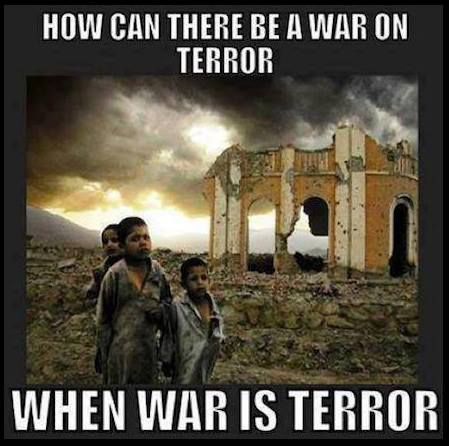 how can there be a war on terror when war is terror