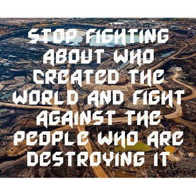 stop fighting about who created the world
