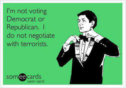 I'm not voting democrat or republican