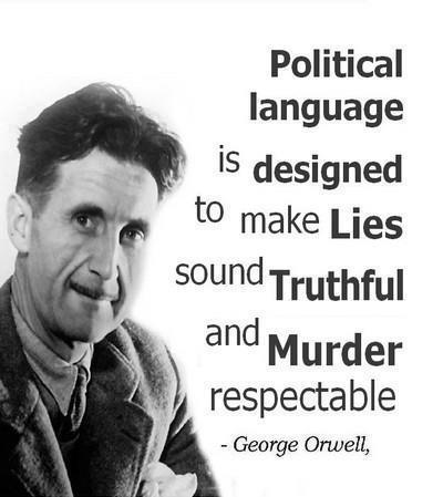 George Orwell political language