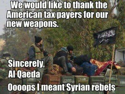 We would like to thank the american taxpayers for our new weapons