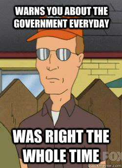 warns you about the government everyday