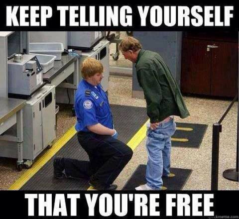 Keep telling yourself that you're free