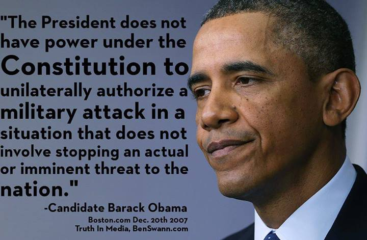 The president does not have the power under the constiution to authorize a military attack