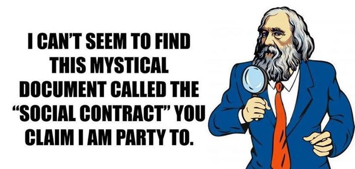 I can't seem to find this mystical document called the social contract