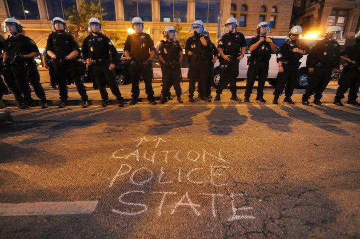 Caution police state