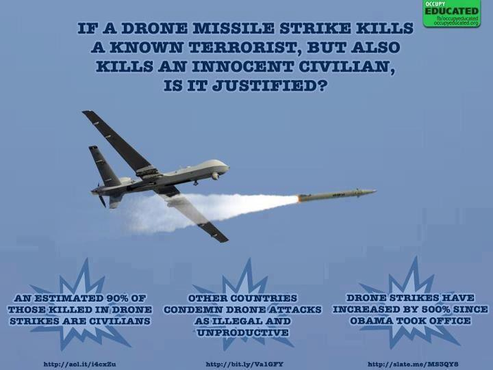 If drone strikes kill innocent civilians is it justified?