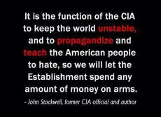 John Stockwell it is the function of the cia to keep the world unstable