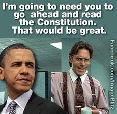 I'm going to need you to go ahead and read the constitution that would be great