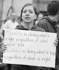 Morality is doing what's right regardless of what you're told